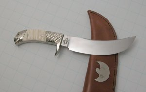 Carved Ivory handled Skinner