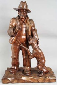 Farmer & his dog- Fred Myers Whittler