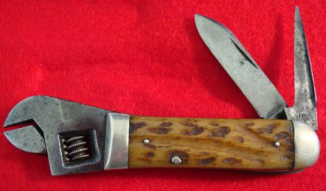 1- W Cattaraugus Wrench Knife- 1920s