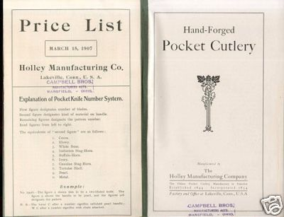 Inside cover and 1907 price list